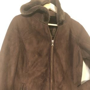 Sonoma life & style women's brown suede S jacket